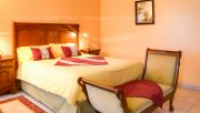 The master bedroom of La Malle Poste, a luxury self catering in a guest house located in Charente, South-West of France