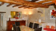 The dining room of La Malle Poste, a luxury self catering in a guest house located in Charente, South-West of France